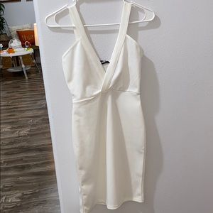 White V cut Misguided Party Dress